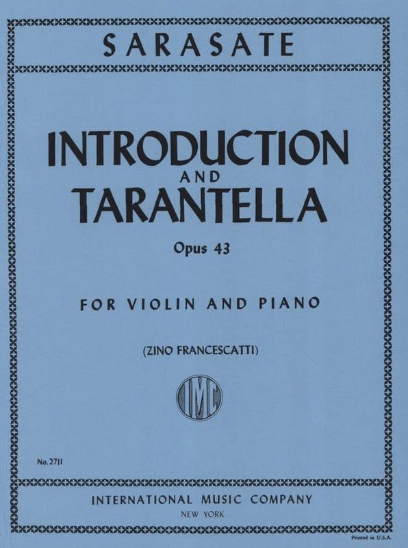 Introduction et Tarantelle op. 43 - SARASATE - laflutedepan.com