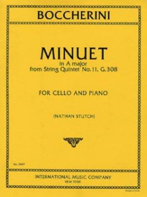 Minuet in A maj. - Cello - BOCCHERINI - Partition - laflutedepan.com