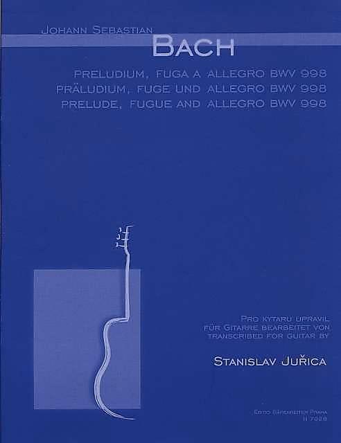 Präludium, Fuge u. Allegro BWV 998 -Gitarre - BACH - laflutedepan.com