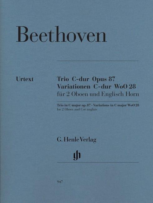 Trio en Ut majeur op. 87 · Variations en Ut majeur WoO 28 - laflutedepan.com