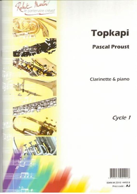 Topkapi - Pascal Proust - Partition - Clarinette - laflutedepan.com
