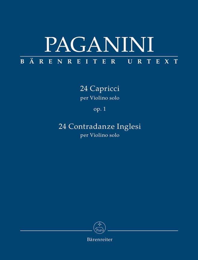 24 Capricci - 24 Contradanze Inglesi - PAGANINI - laflutedepan.com