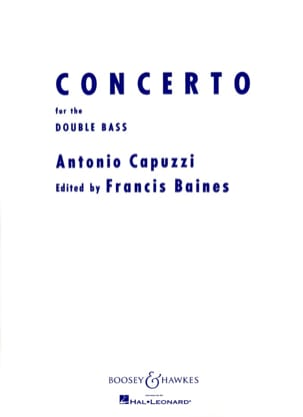 Concerto for Double basse Giuseppe Antonio Capuzzi laflutedepan