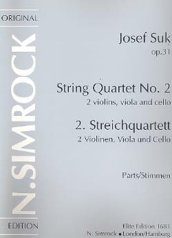 Streichquartet Nr. 2 op. 31 -Stimmen - Joseph Suk - laflutedepan.com