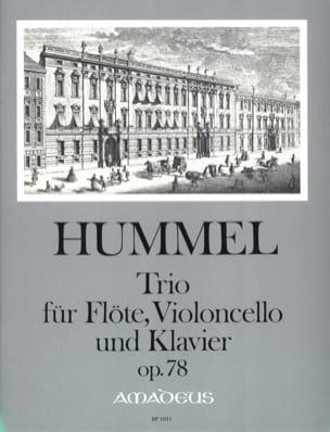Trio Op. 78 Pour Flute, Violoncelle et Piano HUMMEL laflutedepan