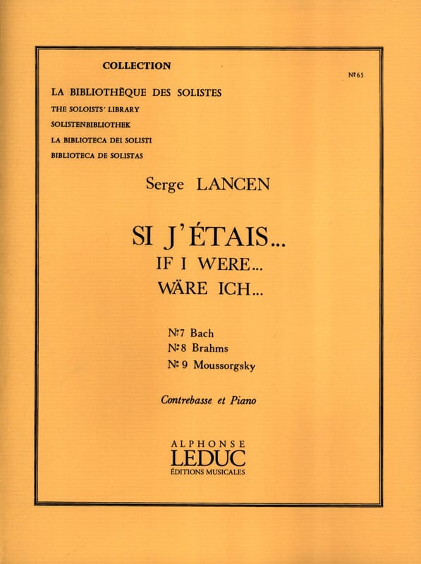 Si j'étais ... n° 7, 8 et 9 - Serge Lancen - laflutedepan.com