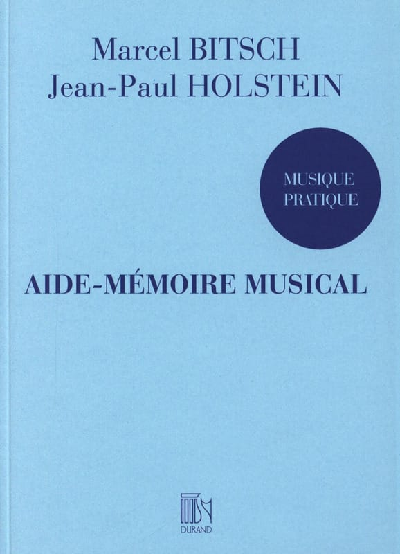 Aide-Mémoire Musical - BITSCH-HOLSTEIN - Partition - laflutedepan.com