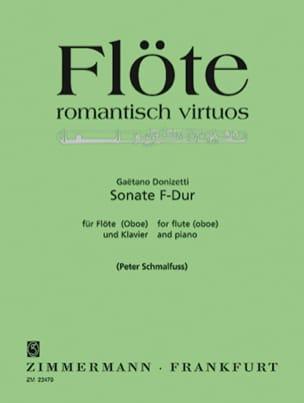 Sonate F-Dur - Flöte Oboe u. Klavier DONIZETTI Partition laflutedepan