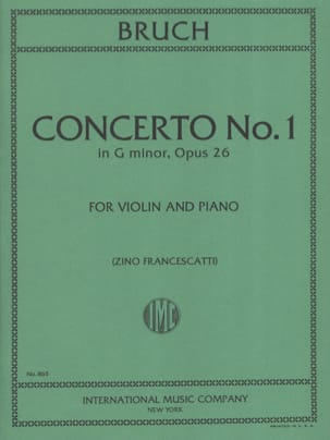 Max Bruch - Concerto No. 1 Minor Floor Op.26 - Partition - di-arezzo.com
