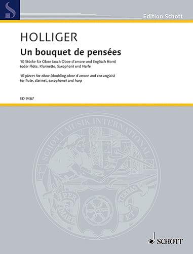 Un Bouquet de Pensées - Heinz Holliger - Partition - laflutedepan.com