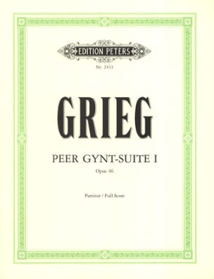 Peer Gynt-Suite n° 1 op. 46 - Partitur GRIEG Partition laflutedepan