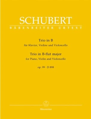 Klaviertrio B-Dur op. 99 D 898 -Stimmen SCHUBERT laflutedepan