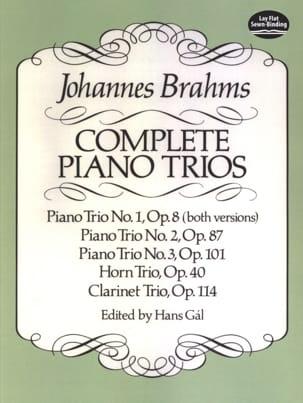 Complete Piano Trios - Full Score BRAHMS Partition laflutedepan