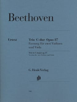BEETHOVEN - Trio in C major op. 87 - Partition - di-arezzo.co.uk