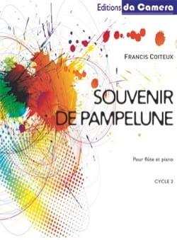 Souvenir de Pampelune Francis Coiteux Partition laflutedepan