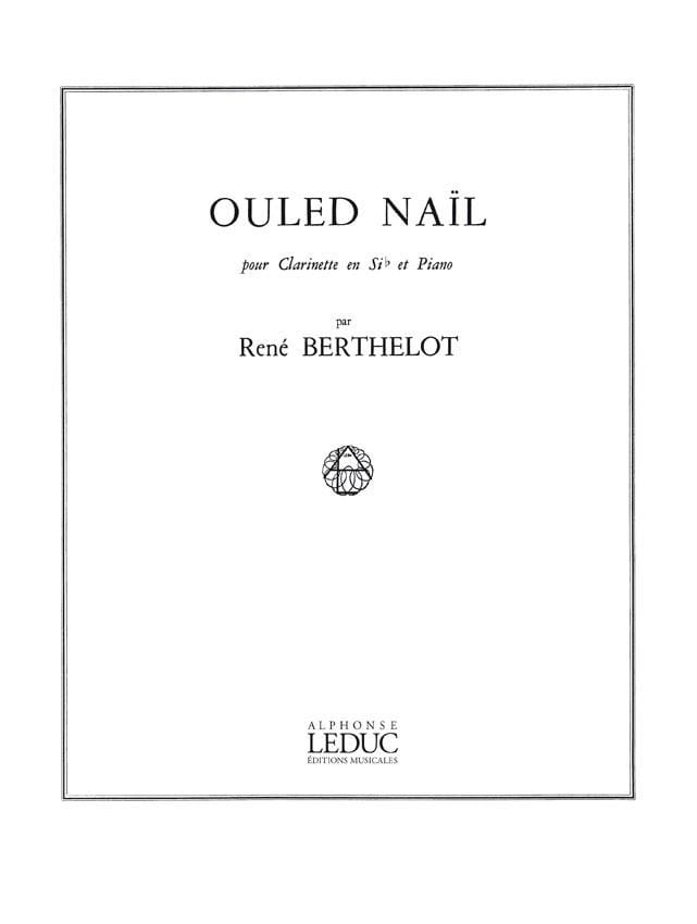 Ouled Naïl - René Berthelot - Partition - laflutedepan.com