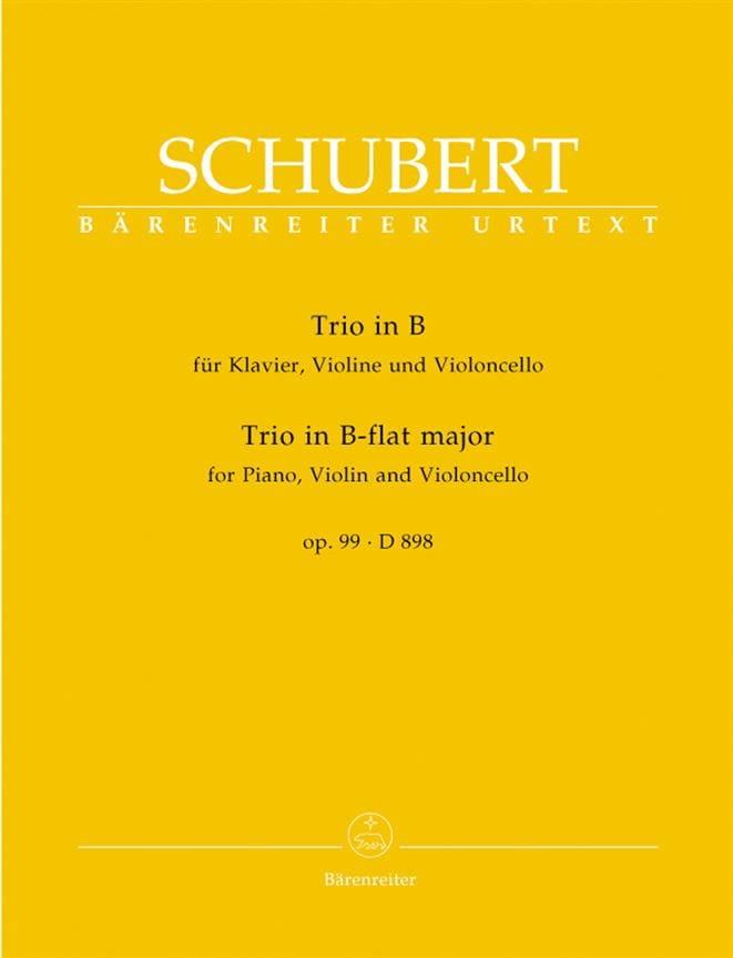 Klaviertrio B-Dur op. 99 D 898 -Stimmen - SCHUBERT - laflutedepan.com