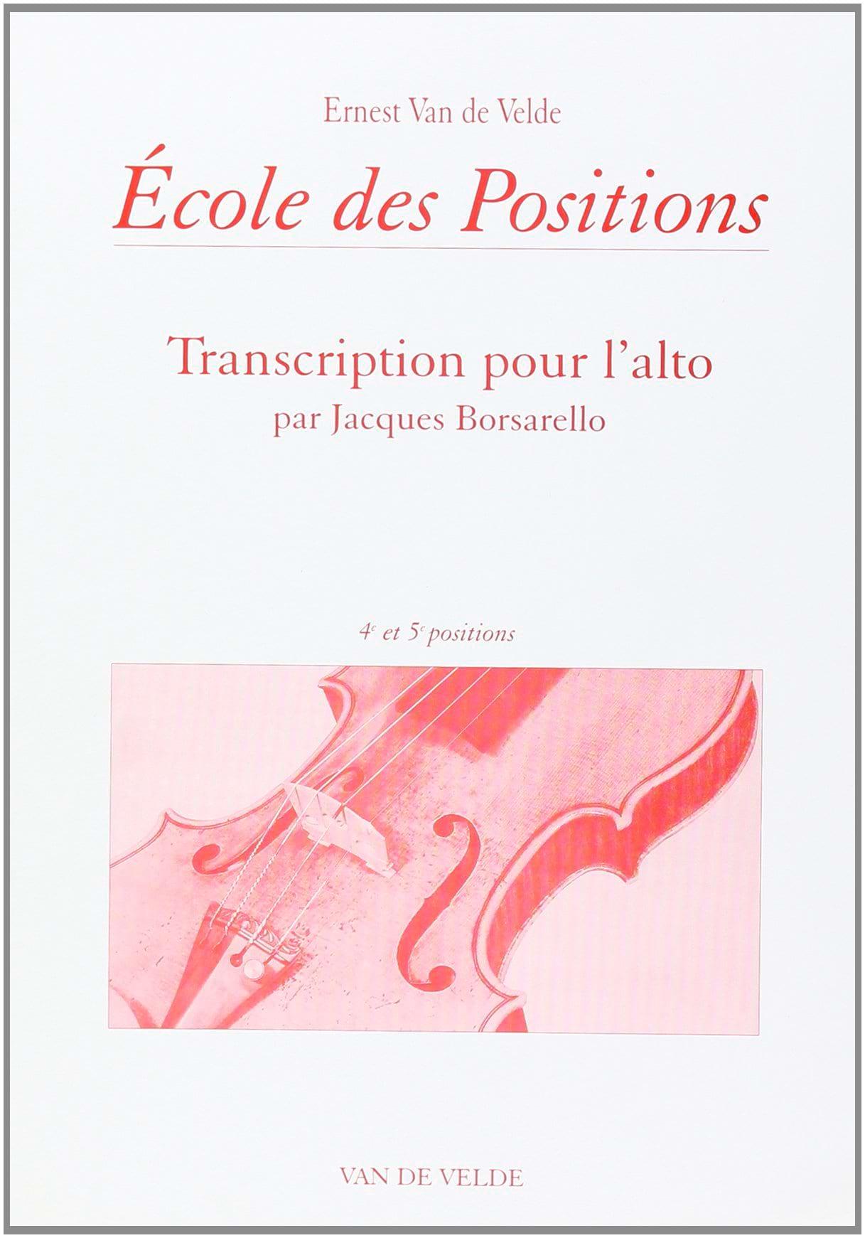 Ecole des positions - 4ème et 5ème positions - Alto - laflutedepan.com