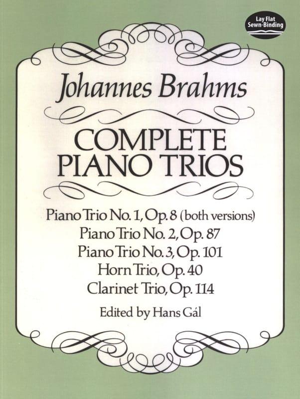 Complete Piano Trios - Full Score - BRAHMS - laflutedepan.com