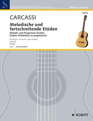 Etudes mélodiques et progressives op. 60 Matteo Carcassi laflutedepan