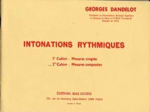 Intonations Rythmiques - 2ème cahier DANDELOT Partition laflutedepan