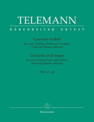 Concerto a quattro d-moll -Partitur + Stimmen TELEMANN laflutedepan