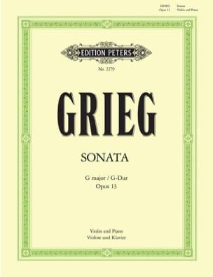 Sonate op. 13 sol majeur GRIEG Partition Violon - laflutedepan