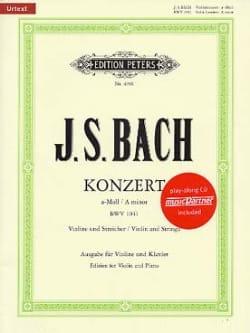 Concerto Violon en la Mineur BWV 1041 BACH Partition laflutedepan