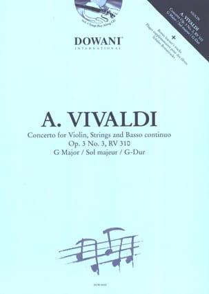 Concerto n° 3 op. 3 RV 310 en sol maj. VIVALDI Partition laflutedepan
