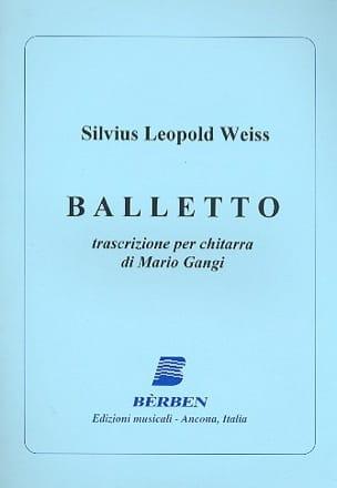 Balletto Silvius Leopold Weiss Partition Guitare - laflutedepan