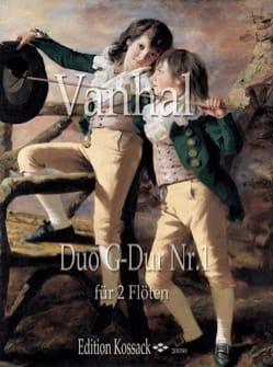 Duo G Dur Nr. 1 Johann Baptist Vanhal Partition laflutedepan
