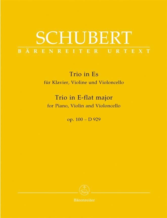 Trio en Mi Bémol Majeur op. 100 - D 929 - SCHUBERT - laflutedepan.com