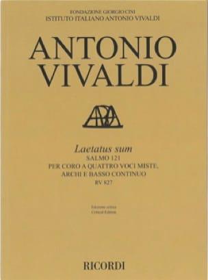 Laetatus Sum - VIVALDI - Partition - Grand format - laflutedepan.com