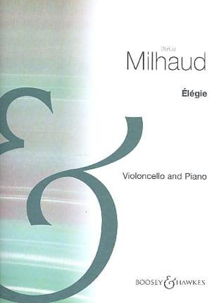 Elégie MILHAUD Partition Violoncelle - laflutedepan
