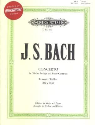 Concerto Violon en Mi Maj. BWV 1042 BACH Partition laflutedepan