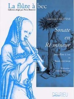 Sonate en ré mineur Giacomo Carissimi Partition laflutedepan