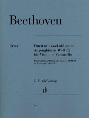 Duo Pour deux lorgnons obligés WoO 32 pour alto et violoncelle laflutedepan