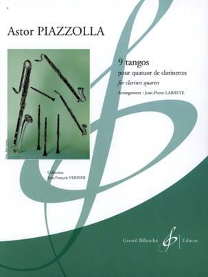 9 Tangos Astor Piazzolla Partition Clarinette - laflutedepan