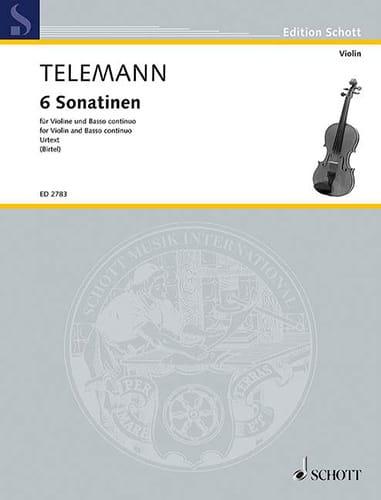 6 Sonatinen - TELEMANN - Partition - Violon - laflutedepan.com