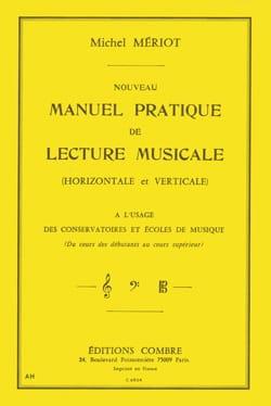 Nouveau manuel pratique de lecture musicale Michel Mériot laflutedepan