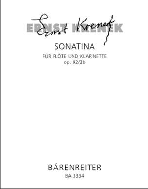 Sonatina op. 92/2b - Flöte und Klarinette Ernst Krenek laflutedepan