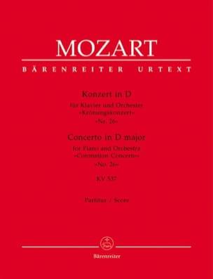 Klavierkonzert Nr. 26 D-Dur KV 537 Krönungs - Partitur laflutedepan
