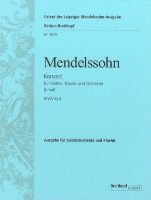 MENDELSSOHN - Konzert d-moll for Violine und Klavier - Partition - di-arezzo.co.uk