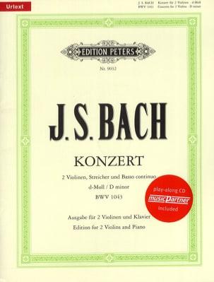 Concerto 2 Violons BWV 1043 ré min. BACH Partition laflutedepan