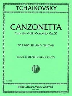 Canzonetta from Violin Concerto op. 35 - Violin Guitar laflutedepan