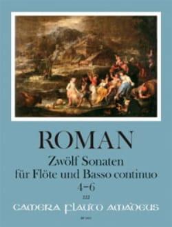 12 Sonates - Volume 2 Johan Helmich Roman Partition laflutedepan