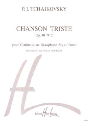 Chanson triste op. 40 n° 2 -Clarinette saxo - laflutedepan.com