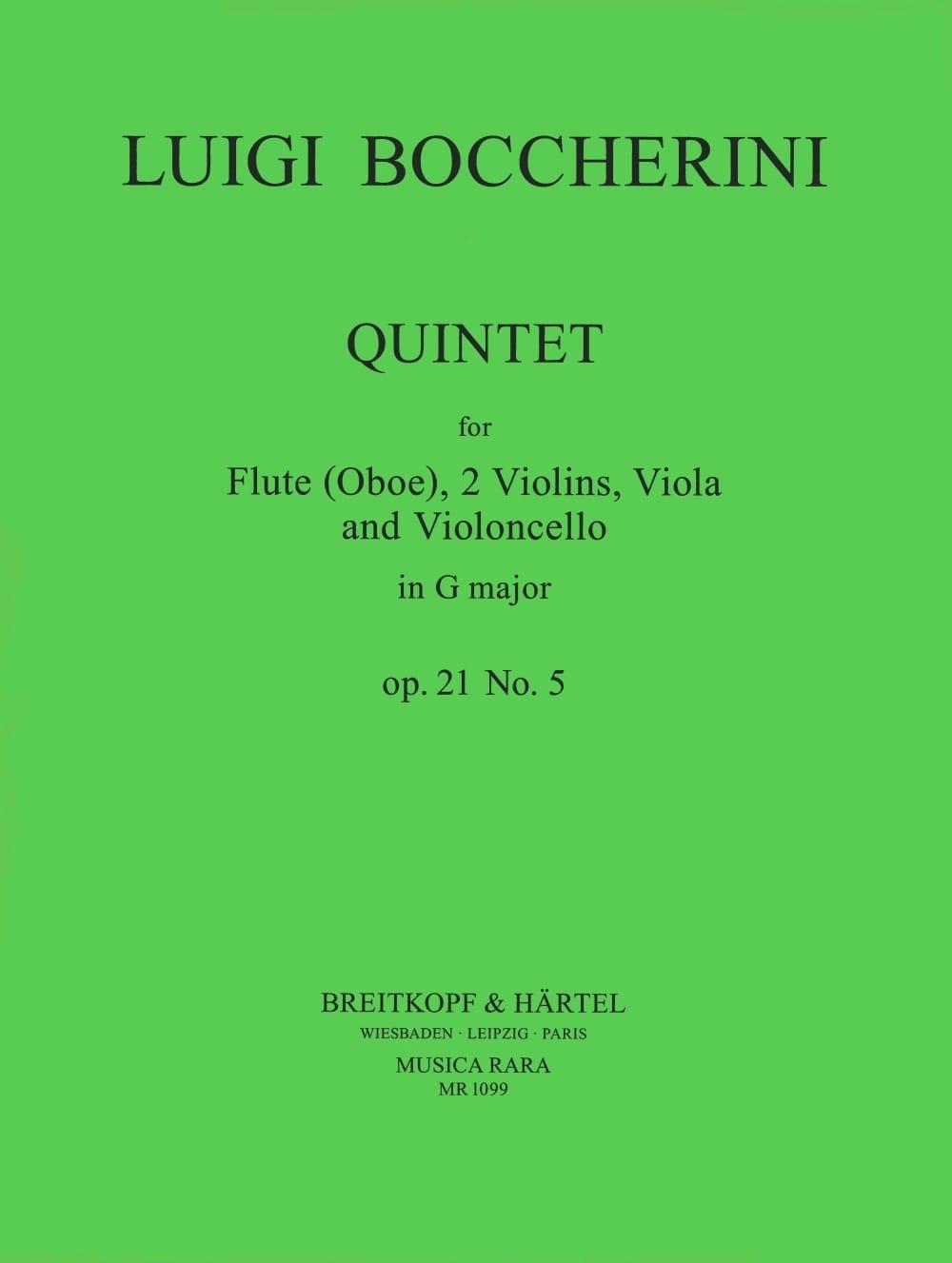 Quintet G major op. 21 n° 5 Parts - Flute oboe strings - laflutedepan.com