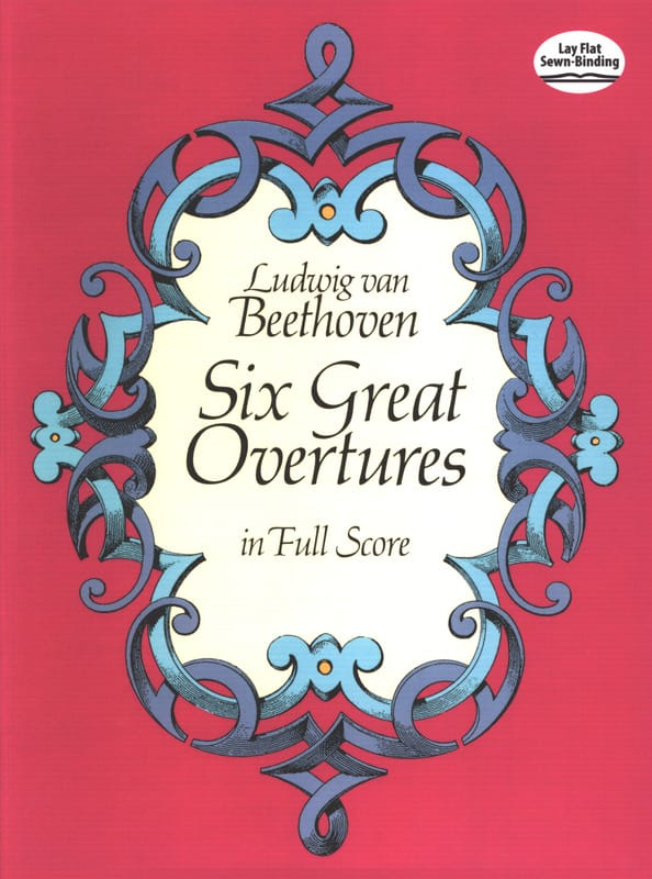 6 Great Overtures - Full Score - BEETHOVEN - laflutedepan.com