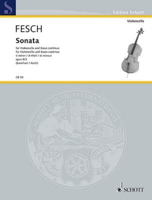 Sonate d-Moll, op. 8 n° 3 Willem de Fesch Partition laflutedepan